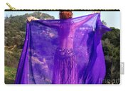 Ameynra Belly Dance. Purple Veil Carry-all Pouch