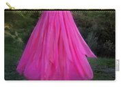 Ameynra Design Pink Chiffon Petal Skirt Carry-all Pouch