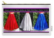 Ameynra Design. Satin Skirts - Red, White, Blue Carry-all Pouch