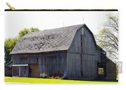 Amish Barn With Gambrel Roof And Hay Bales Indiana Usa Carry-all Pouch
