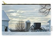 Amish Buggy At Morning Carry-all Pouch