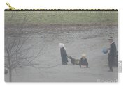Amish Children Play Outside In The Evening Carry-all Pouch