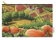 Amish Country T Shirt - Appalachian Pumpkin Patch Country Farm Landscape 2 Carry-all Pouch