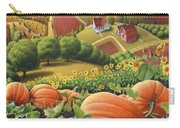 Amish Country T Shirt - Pumpkin Patch Country Farm Landscape 2 Carry-all Pouch