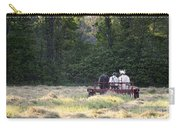 Amish Farmer Raking Hay At Dusk Carry-all Pouch