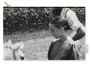 Amish Girl And Pony Carry-all Pouch