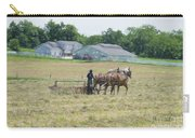 Amish Girl Raking Hay As Painting Carry-all Pouch