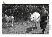 Amish Girl With Her Colt Carry-all Pouch