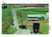 Amish Horse And Buggy Farm Carry-all Pouch