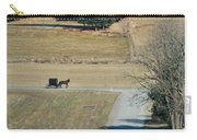Amish Horse And Buggy On A Country Road Carry-all Pouch