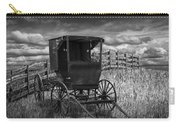 Amish Horse Buggy In Black And White Carry-all Pouch