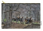 Amish Horses In Harness Carry-all Pouch