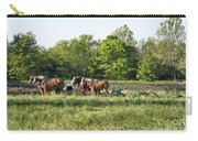 Amish Man Plowing Carry-all Pouch