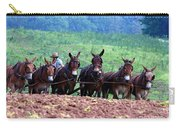 Amish Plowing The Fields With Mules Carry-all Pouch