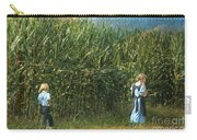 Amish Siblings In Cornfield  Carry-all Pouch