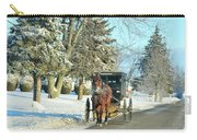Amish Winter Carry-all Pouch by David Arment