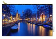 Amsterdam - A Canal Scene At Night . L B Carry-all Pouch