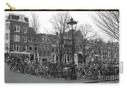 Amsterdam Bikes Black And White Carry-all Pouch