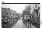 Amsterdam Canal Black And White 2 Carry-all Pouch