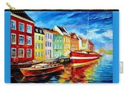 Amsterdam-city Dock - Palette Knife Oil Painting On Canvas By Leonid Afremov Carry-all Pouch
