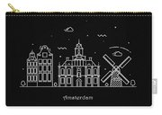 Amsterdam Skyline Travel Poster Carry-all Pouch