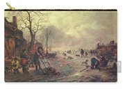 Amusement On The Ice 1645  Carry-all Pouch