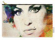 Amy Winehouse Colorful Portrait Carry-all Pouch