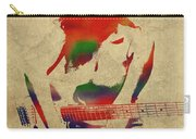 Amy Winehouse Watercolor Portrait Carry-all Pouch