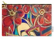 An Abstract Floral Carry-all Pouch