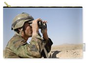 An Afghan Commando Scans The Horizon Carry-all Pouch