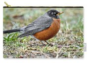 An American Robin With Muddy Beak Carry-all Pouch