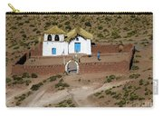 The Ancient Church At  Machuca In The Atacama Desert Carry-all Pouch