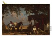 An Arab Encampment Carry-all Pouch by Gustave Guillaumet