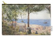An Artist Painting By The Sea Carry-all Pouch