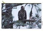 An Eagle Gazing Through Snowfall Carry-all Pouch