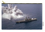 An Explosive Charge Is Detonated Carry-all Pouch by Stocktrek Images
