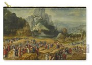 An Extensive Landscape With The Preaching Of Saint John The Baptist And The Baptism Of Christ Carry-all Pouch