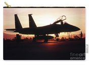 An F-15c Eagle Aircraft Silhouetted Carry-all Pouch by Stocktrek Images