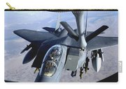 An F-15e Strike Eagle Refuels Over Iraq Carry-all Pouch