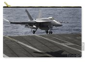 An Fa-18e Super Hornet Prepares To Land Carry-all Pouch by Stocktrek Images