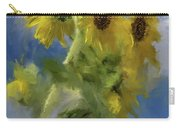 An Impression Of Sunflowers In The Sun Carry-all Pouch