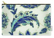 An Iznik Blue And White Pottery Tile, Turkey, 17th Century, By Adam Asar, No 18b Carry-all Pouch