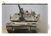 An M1a1 Abrams Tank Heading Carry-all Pouch