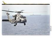 An Mh-60r Seahawk Helicopter In Flight Carry-all Pouch