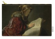An Old Woman Reading - Prophetess Hannah Carry-all Pouch