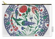 An Ottoman Iznik Style Floral Design Pottery Polychrome, By Adam Asar, No 1 Carry-all Pouch