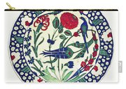 An Ottoman Iznik Style Floral Design Pottery Polychrome, By Adam Asar, No 1a Carry-all Pouch