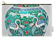 An Ottoman Iznik Style Floral Design Pottery Polychrome, By Adam Asar, No 7a Carry-all Pouch