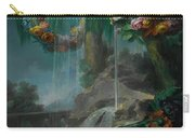 An Outdoor Scene With A Spring Flowing Into A Pool Carry-all Pouch