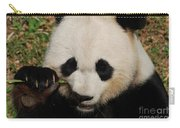 An Up Close Look At A Giant Panda Bear Carry-all Pouch
